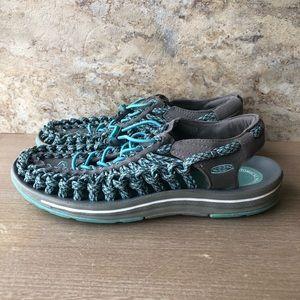 Keen Uneek Slingback Water Hiking Sandal Blue 8